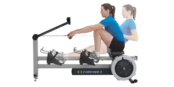 HIIT using home gym rowing machines