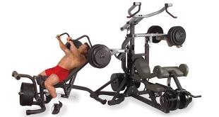 Body Solid SBL460P4 Freeweight Leverage Gym